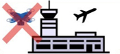 空港周辺での飛行禁止