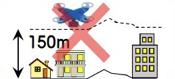 150m以上の上空での飛行禁止