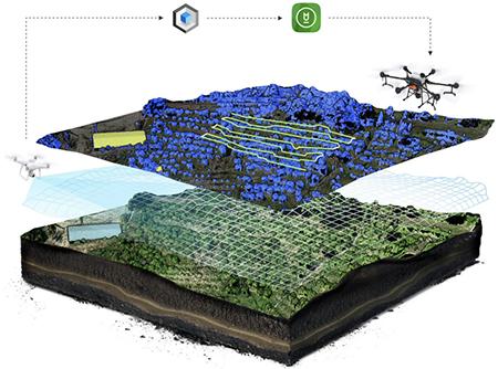 2D3D飛行ルート計画画像